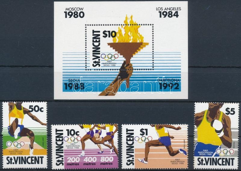 Summer Olympics set + block, Nyári olimpia sor + blokk