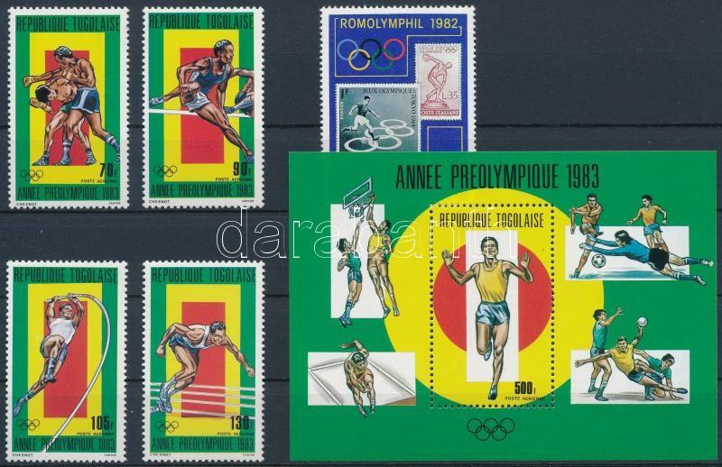 1982-1983 Summer Olympics set + block, 1982-1983 Nyári olimpia sor + blokk