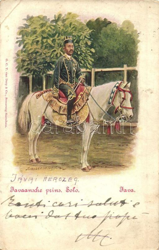 Javaansche prins Solo / Javanese prince. folklore + K.u.K. Feldjäger Baon No. 28.  s: Jan van der Heyden, Jávai herceg. folklór + K.u.K. Feldjäger Baon No. 28.  s: Jan van der Heyden