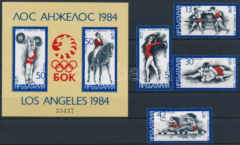 Summer Olympics, Los Angeles set + block, Nyári Olimpia, Los Angeles sor + blokk
