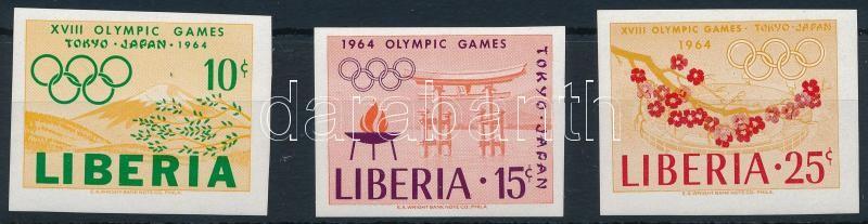Olympics imperforated set, Olimpia vágott sor