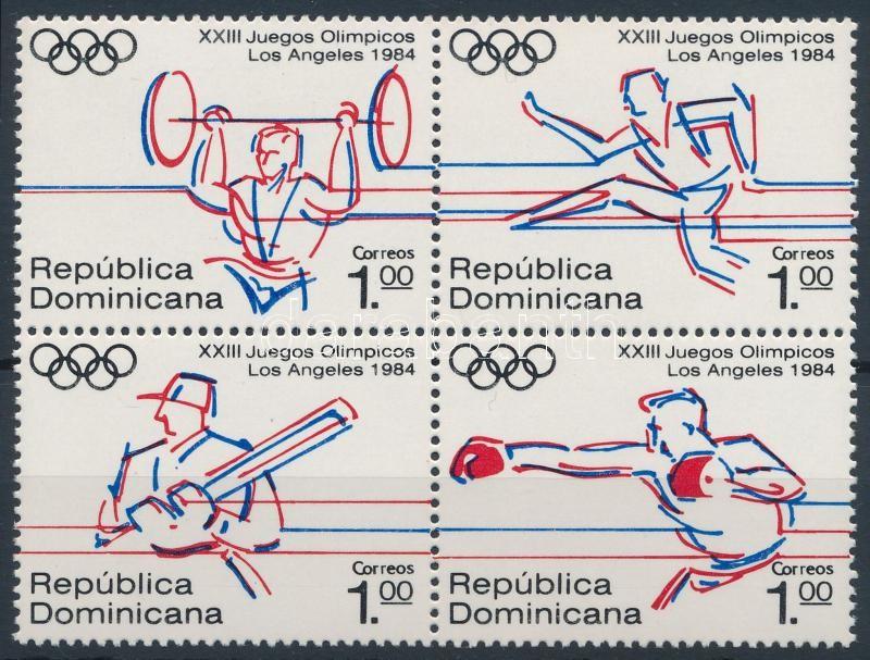 Summer Olympics, Los Angeles block of 4, Nyári Olimpia, Los Angeles 4-es tömb