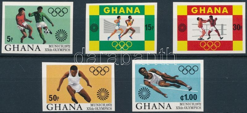 Summer Olympics, Munich imperforated set, Nyári Olimpia, München vágott sor