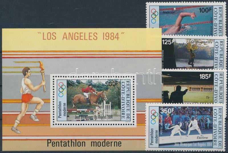 Summer Olympics, Los Angeles set + block, Nyári Olimpia, Los Angeles sor + blokk