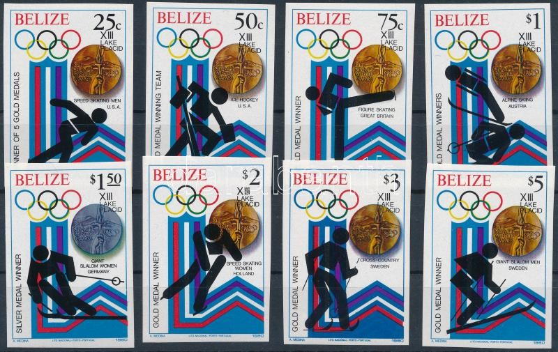 Winter Olympics medal winners  imperforated set, Téli Olimpiai érmesek vágott sor