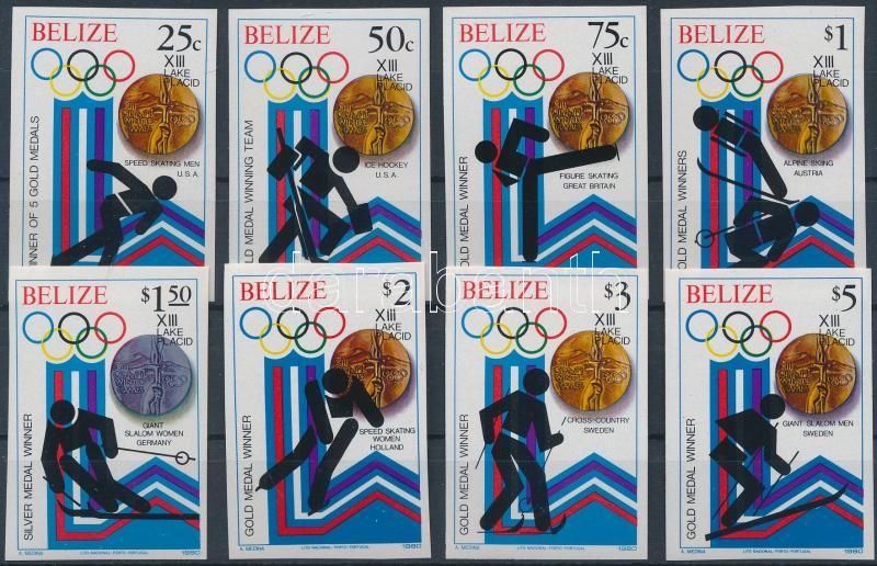 Winter Olympic medalists imperforated set, Téli Olimpiai érmesek vágott sor