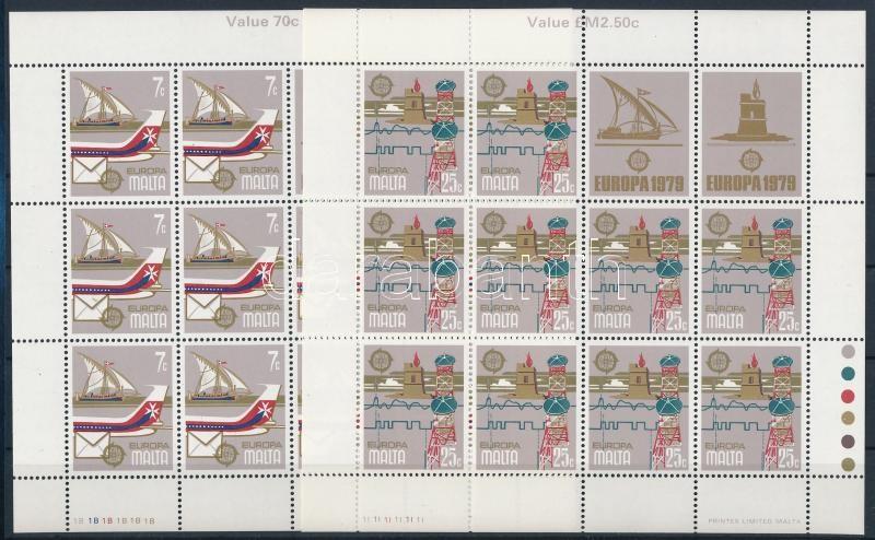 Europa CEPT: Postal history minisheet set, Europa CEPT: Posta és távközlés története kisívsor