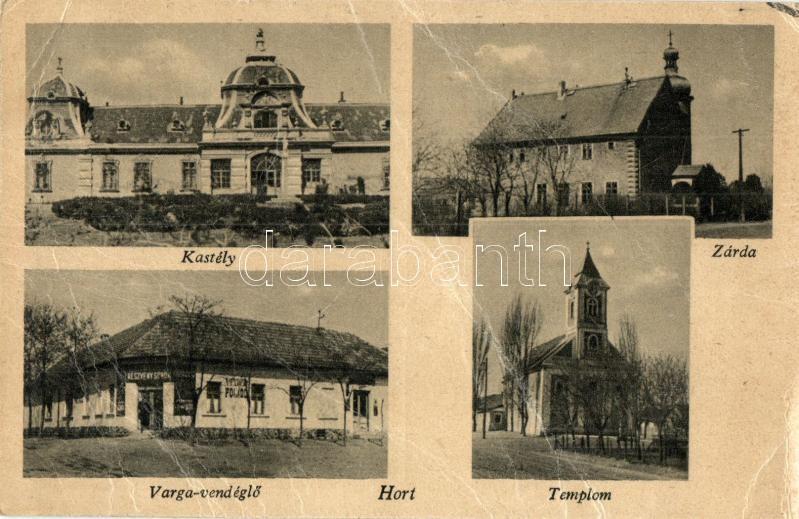 Hort, Winterberg kastély, Zárda, Varga étterem, Római katolikus templom