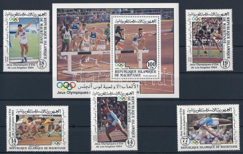 Summer olympic games - LA (II.) set + block, Nyári olimpia, Los Angeles (II.) sor  + blokk