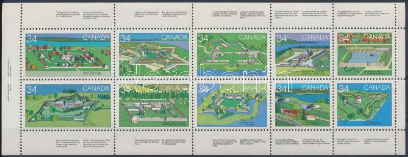 Kanadaiak napja: Erődök (II) bélyegfüzetlap, Canada day: Forts (2nd) stamp booklet page
