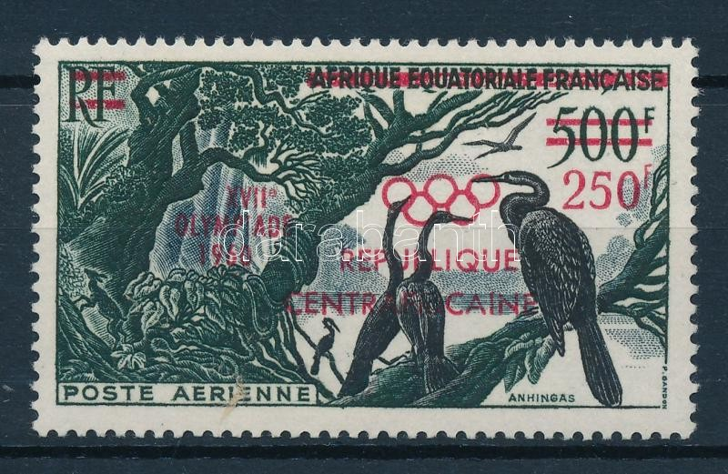 Summer Olympics, Rome overprinted stamp, Nyári Olimpia, Róma felülnyomott bélyeg