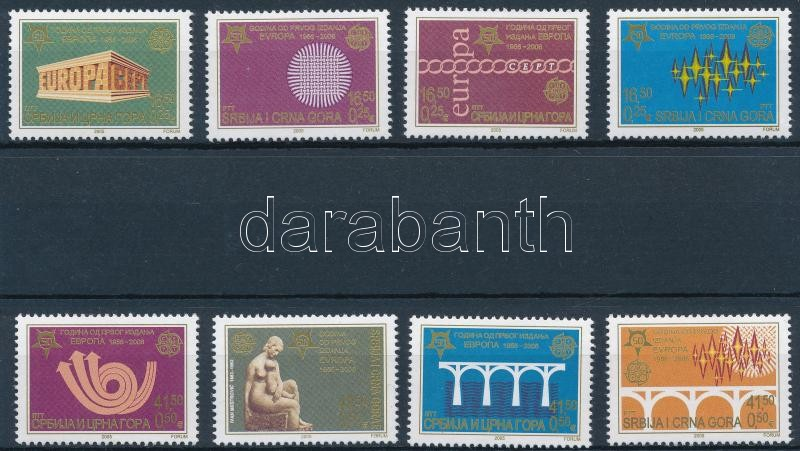 50th anniversary of the Europa stamp set, 50 éves az Europa bélyeg sor