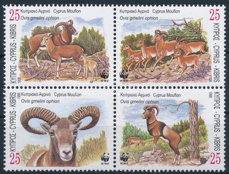 WWF: Cyprus Mouflon block of 4, WWF: Ciprusi vadjuh négyestömb