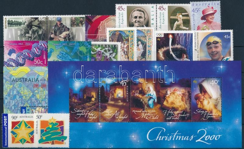 2001-2003 15 stamps + 2 blocks, 2001-2003 15 klf bélyeg + 2 klf blokk