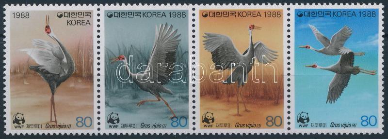 WWF: Amur crane stripe of 4, WWF: Amuri daru négyescsík