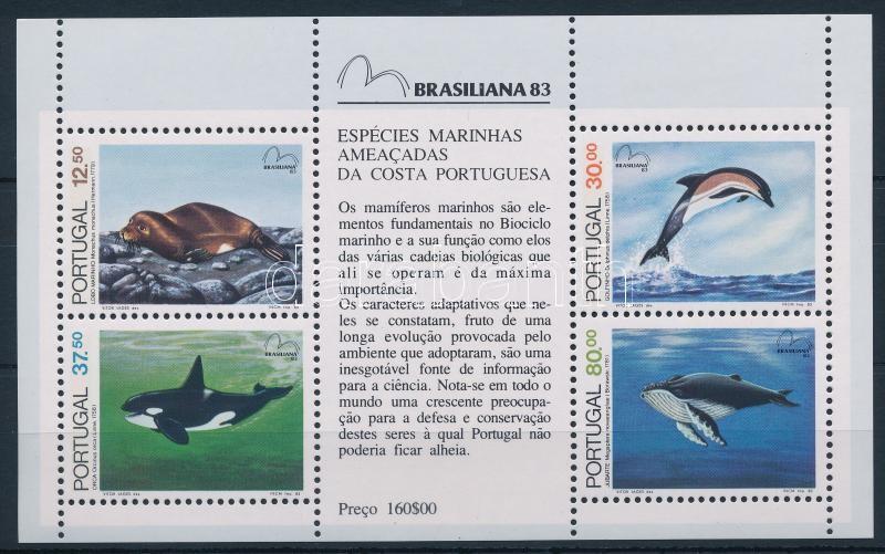 Stamp Exhibition; Whales block, Bélyegkiállítás; Bálnák blokk