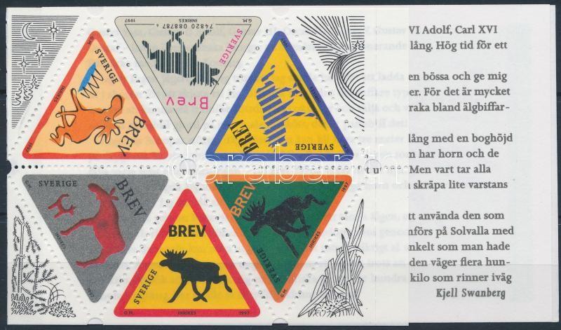Greeting stamps, moose stamp booklet, Üdvözlőbélyegek, jávorszarvas bélyegfüzet