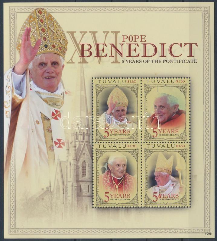 Pope Benedict XVI. minisheet, XVI. Benedek pápa kisív
