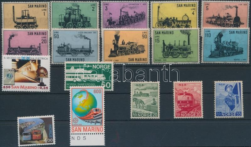 1954 - 2000  1 set + 7 stamps, 1954 - 2000  1 sor + 7 db bélyeg