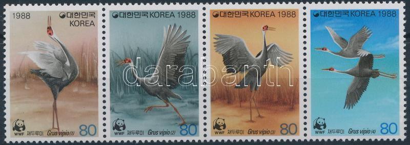 Amuri daru négyescsík, Amur crane stripe of 4