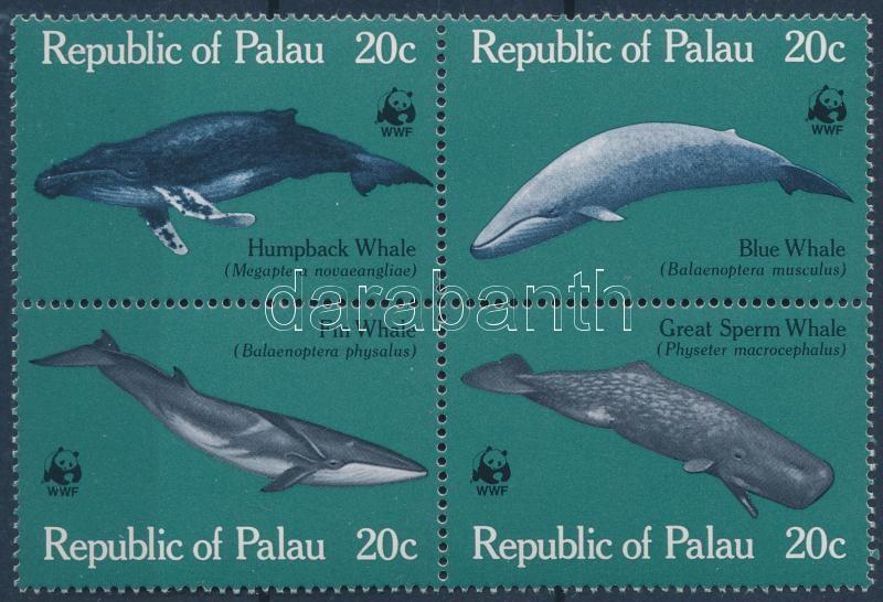WWF Whale block of 4, WWF Bálnák négyestömb