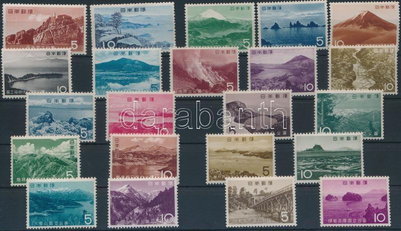 1956-1964 National park 9 sets, 1956-1964 Nemzeti park 9 db sor