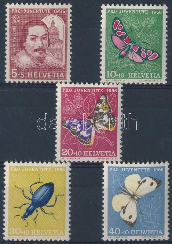 Pro Juventute: Carlo Maderno; insects set, Pro Juventute: Carlo Maderno; Rovarok sor