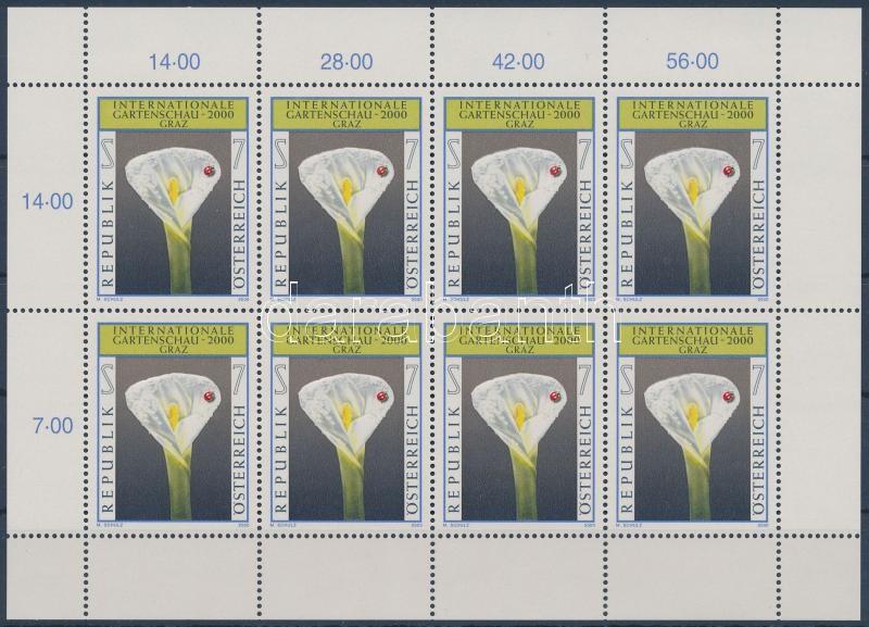 International Gardening Exhibition, Graz mini-sheet, Nemzetközi kertészeti kiállítás, Graz kisív
