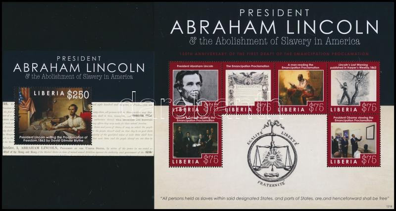 Abraham Lincoln kisív + blokk, Abraham Lincoln minisheet + block