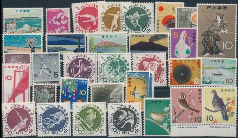 1961-1963 32 diff stamps, 1961-1963 32 klf bélyeg