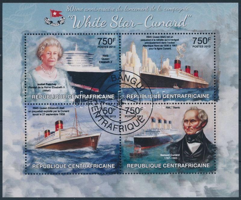 Cunard Ship Company minisheet, Cunard hajótársaság kisív