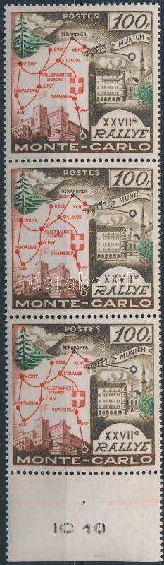 Monte-Carlo rallye margin stripe of 3, Monte-Carlo rallye ívszéli hármascsík