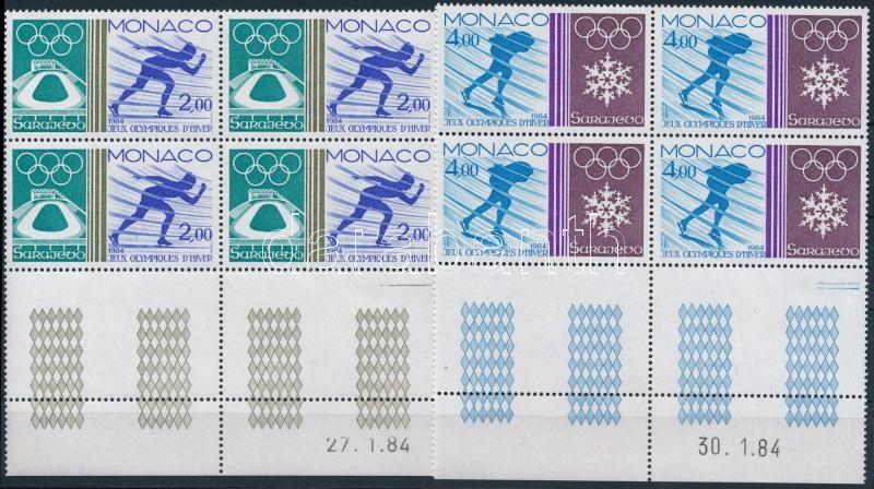 Olimpics corner set block of 4 with empty-field, Olimpia sor ívsarki üresmezős négyestömbökben