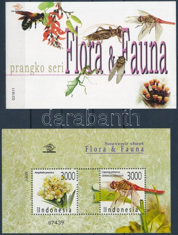 Flora and Fauna stamp booklet + block, Virágok és rovarok bélyegfüzet + blokk