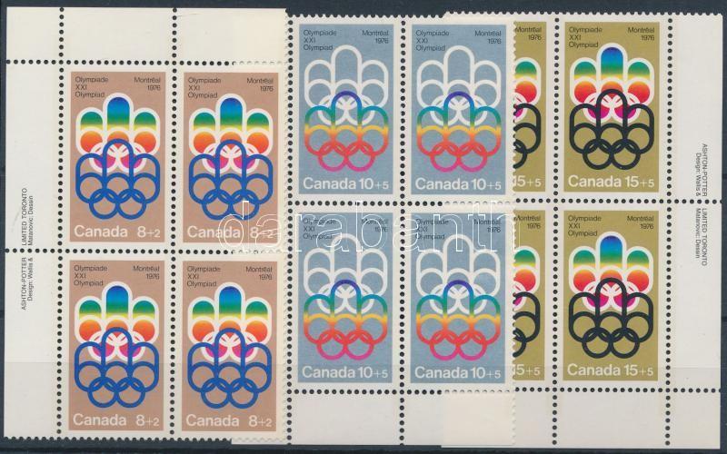 Summer Olympics: Montreal set corner blocks of four, Nyári olimpia: Montreal sor ívsarki négyestömbökben