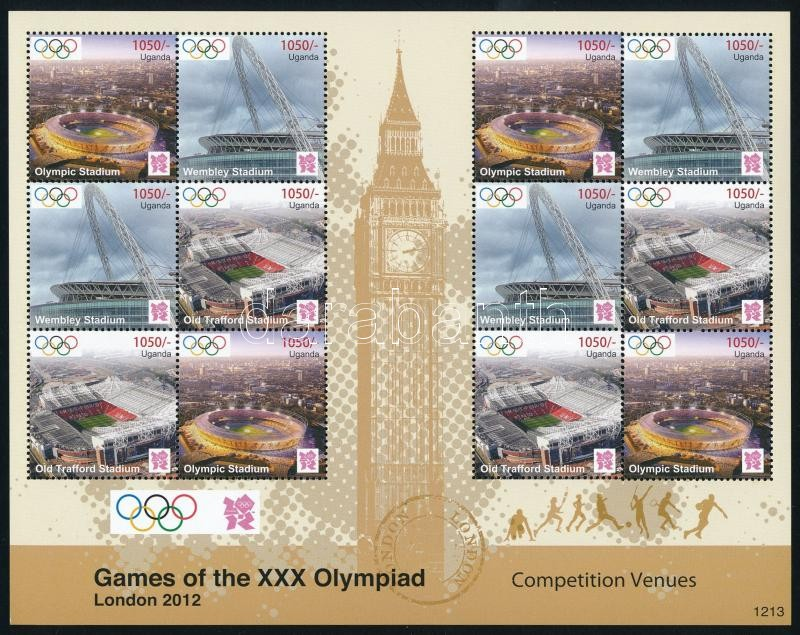 Summer Olympics: London 2 minisheet, Nyári Olimpia: London 2 db kisív