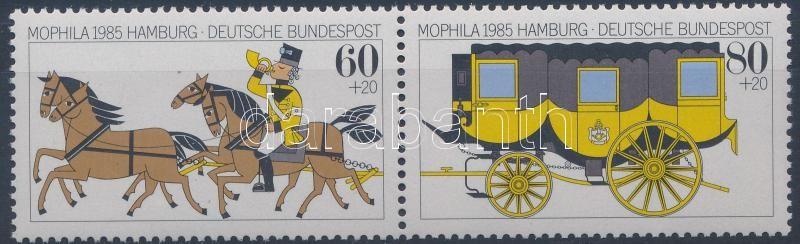 Stamp exhibition margin pair, MOPHILA '85 nemzetközi bélyegkiállítás ívszéli pár