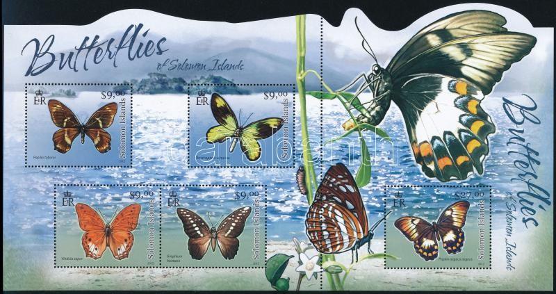 Butterfly mini sheet, Lepkék kisív