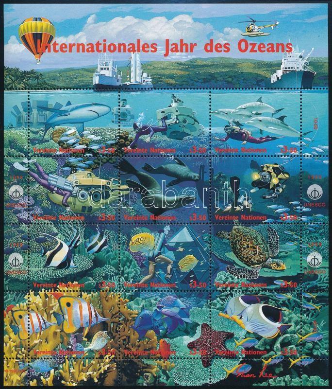 International Year of the Ocean minisheet, Az óceán nemzetközi éve kisív