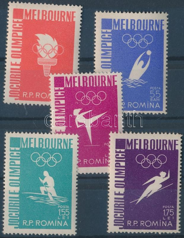 Melbourne Olympics set, Olimpia sor