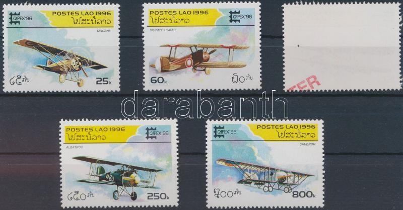 Stamp exhibition SAMPLE, Bélyegkiállítás, Repülők sor MINTA