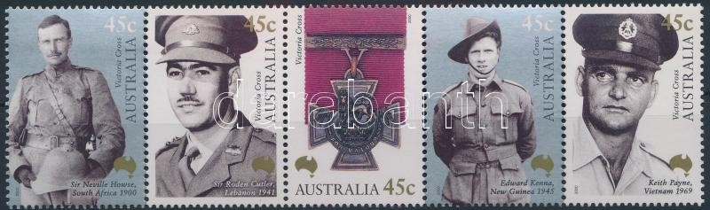 Victoria Cross stripe of 5, 100 éves az ausztrál Viktória Kereszt sor ötöscsíkban