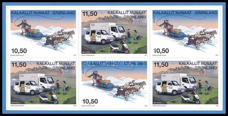 Europa CEPT Postal vehicles selfadhesive stampbooklet, Europa CEPT, Postai járművek öntapadós bélyegfüzet