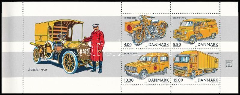 Postai járművek bélyegfüzet, Postal vehicles stamp booklet