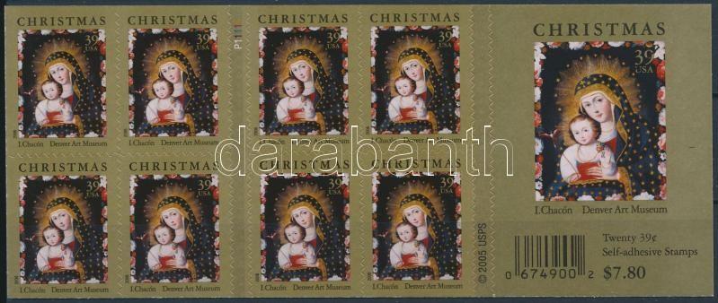 Christmas self-adhesive stamp booklet, Karácsonyi öntapadós bélyegfüzet