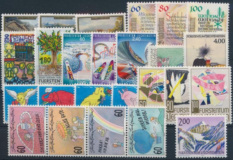 1993-1995 25 stamps, 1993-1995 25 db klf bélyeg, közte teljes sorok, összefüggés, stecklapon