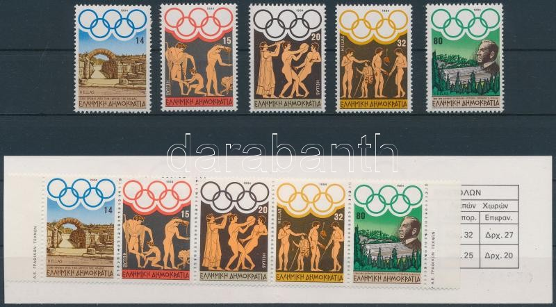 Summer olympics, LA set + stamp booklet, Nyári olimpia: Los Angeles sor + bélyegfüzet