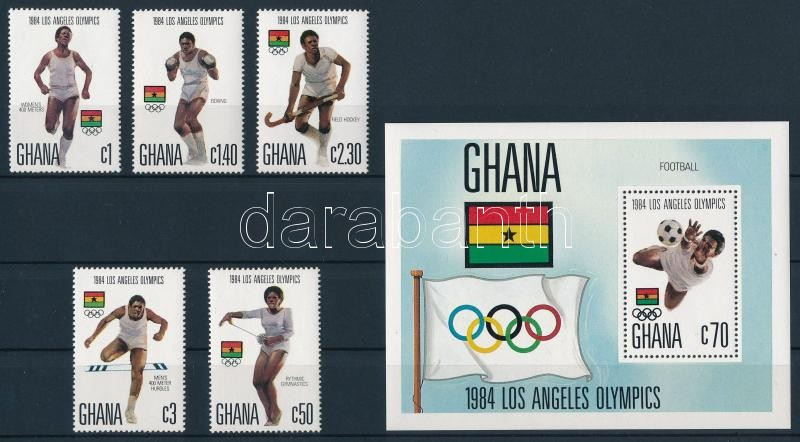 Summer olympic games, LA set + block, Nyári Olimpia, Los Angeles sor  + blokk