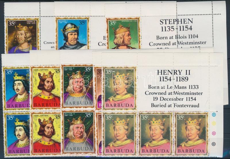 British rulers corner block of 6, Angliai uralkodók sor ívsarki hatostömbben