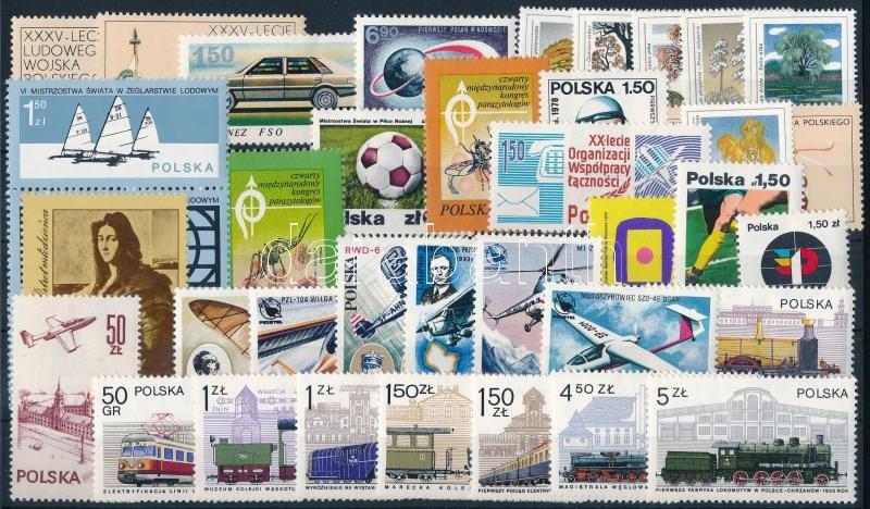 57 diff stamps + 3 diff blocks, issues of the entire year, 57 klf bélyeg + 3 klf blokk, csaknem a teljes évfolyam kiadásai